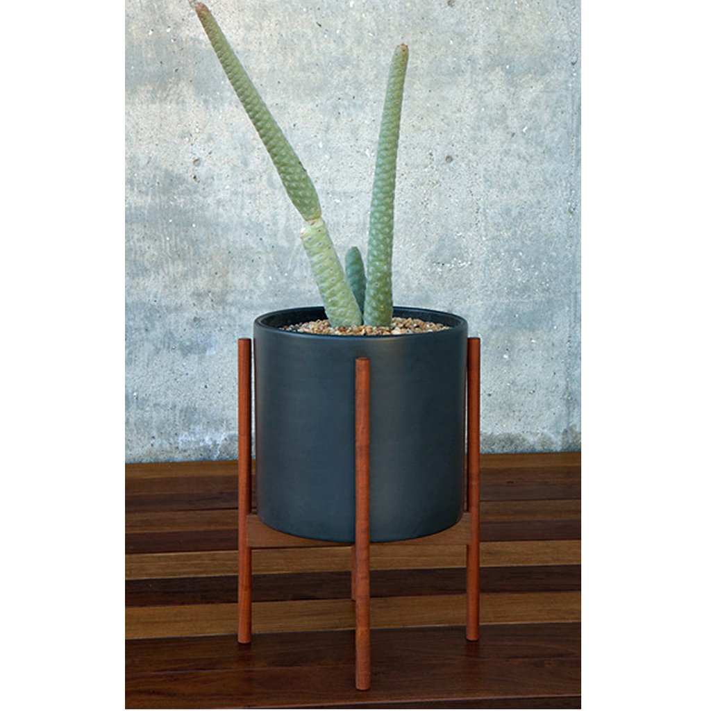 Case Study Cylinder Planter with Wood Stand